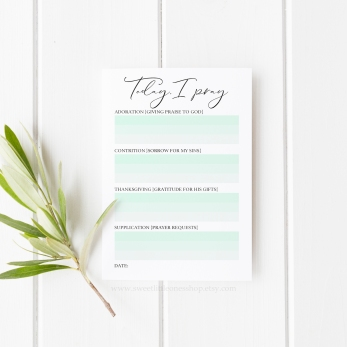 Today I Pray ACTS 5.25x7.25 Notepad Mint FINAL for mockups watermark